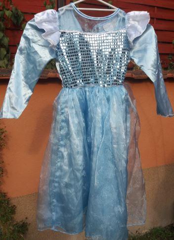 Csillogó kék hercegnős ruha (5-6)